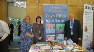 Ynys Mon Island Games represented at Anglesey Day in Westminster (October 2014) with Albert Owen MP