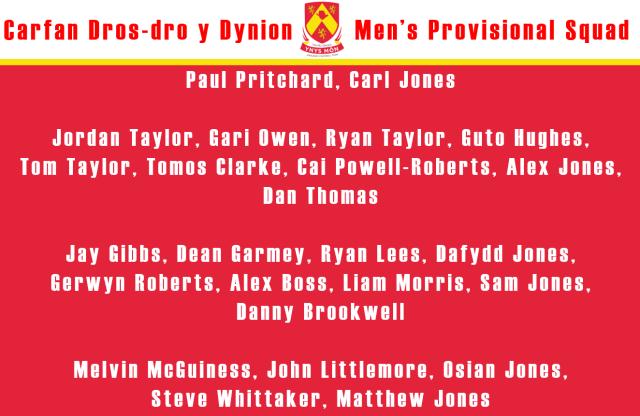 Provisional Squad Men's
